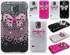 For Samsung Galaxy S5 Crystal Diamond BLING Protector Hard Case Phone Cover