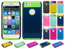 For Apple iPhone 6 4.7 NEST HYBRID HARD Case Rubber Phone Cover + Screen Guard
