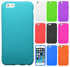 Apple iPhone 6 4.7 Rubber SILICONE Soft Gel Skin Case Cover + Screen Protector