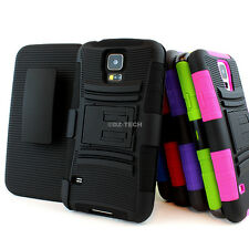 For Samsung Galaxy S5 SV Rugged Hybrid Hard Case Cover Belt Clip Holst