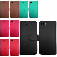 For Apple iPhone 5 5S PU Leather Flip Wallet Credit Card Holder Cover Case