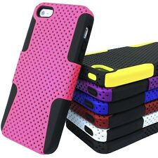 For Apple iPhone 5 5S S APEX Hybrid Hard & Silicone Protective Mesh Co