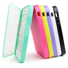 For Apple iPhone 5S 5 TPU Wrap Up Phone Case Cover w, Built in Screen