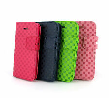 For iPhone 5C Light Hybrid PU Leather Wallet Flip Pouch Case Cover w,