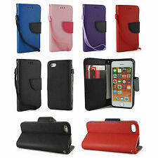 For Apple iPhone 5 5S Leather Pouch Wallet Stand Case Cover w, Card Ho