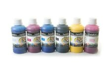 Pigment ink ciss ink refill 6 x 100ml fits with Epson printers bulk refill ink