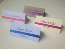 Personalised ribbon place cards / name cards white, kraft, ivory