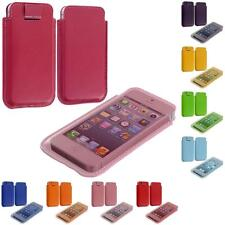 Color Sleeve Soft PU Leather Pouch Case Cover Holder for iPhone 5 5G 5