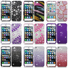 For Apple iPhone 5S 5 Colorful Design Set 4 Bling Diamond Hard Case Cover