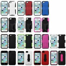 Deluxe Color Design Hybrid Hard Stand Snap-On Case Cover Skin For iPhone 5C