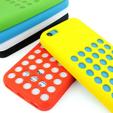 For Apple iPhone 5C Colorful Dotted Silm Silicone Rubber Gel Soft Case Cover