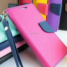 For iPhone 5C Colorful Hybrid PU Leather Inner TPU Flip Wallet Pouch Case Stand