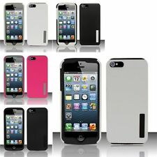 For iPhone 5 Silicone + Rubberized Hard Combo Case Cover