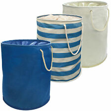 Large Pop Up Laundry Hamper Storage Washing Bag w/ Carry Handles - 35cm x 48cm