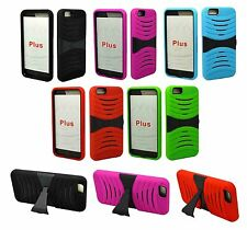 "For Apple iPhone 6 Plus 5.5"" Heavy Duty Tough Hard Armor Hybrid Stand Case Cover"