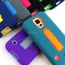 For Samsung Galaxy S5 SV Rugged Impact Hybrid Protective Hard Case Cover Stand