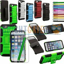 Hybrid Kickstand Hard Case With Holster Belt Clip For Apple iPhone 6 w