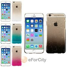 Color Clear Transparent Gradient Water Rain Drop Hard Case for iPhone