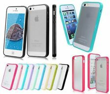 Hard Matte Clear Back Case with Soft Silicone TPU Bumper Cover for iPhone 5S 6