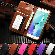 Luxury PU Leather Photo Flip Wallet Stand Case for Samsung Galaxy S6 E