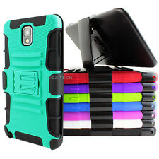 For Samsung Galaxy Note 3 III Rugged Hybrid Hard Case Cover Belt Clip Holster