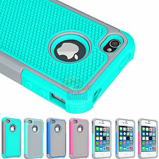 Hybrid Rugged Rubber Matte Hard Case Protective Cover For Apple iPhone 4 4G 4S