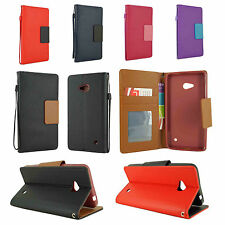 For Nokia Lumia 640 Leather Wallet Flip Protect Case Cover w, Card Hol