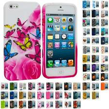 For iPhone 5S 5 5G Color TPU Design Soft Rubber Case Skin Cover Access