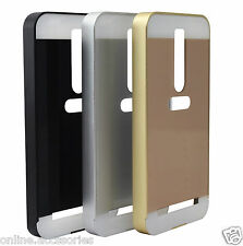 Aluminum Metal Bumper Frame + Acrylic Back Cover Case For Asus Zenfone 2 Deluxe