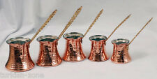 Handmade Turkish Greek Copper Coffee Maker Pot, Cezve, 1 piece XXS,XS,S,M,L