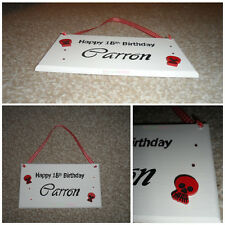 Personalised Happy Birthday Wooden Plaque - Any Message Any Theme - Bespoke Item