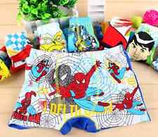 Wholesale Boys Child Cotton Brief Underwear Boxer Shorts spider man Kids 3-10yrs