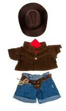 Teddy Bear COWBOY Outfit w/ BROWN HAT CLOTHES Fit 14