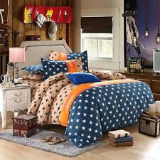 Star Fashion Single Double Queen King Size Bed Set Pillowcase Quilt Duvet Cover