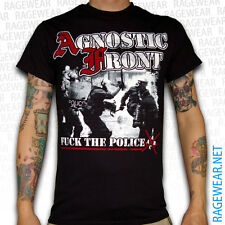 "AGNOSTIC FRONT ""FUCK THE POLICE"", T-Shirt, black Hardcore NYHC"