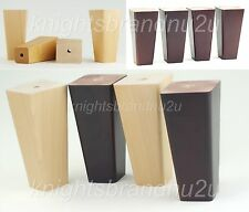 4x SOLID WOOD REPLACEMENT FURNITURE LEGS/FEET - SOFA, CHAIR, SETTEE 150mm HEIGHT