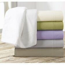 Egyptian Cotton Percale 350 Thread Count Deep Pocket Sheet Set with Oversize Fla