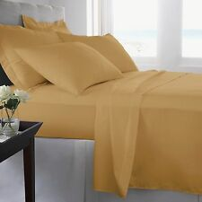 Gold Bed Sheet Set - Queen - King - Full - Twin - CalKing - 1800 Becky Cameron