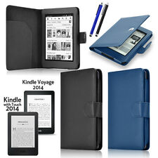 For NEW 2014 Amazon Kindle Voyage / 7th Touch E-Reader Folio Leather Case Cover