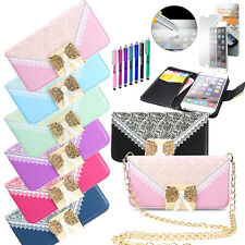 "New Luxury Crystal WALLET LEATHER FLIP CASE COVER FOR iPhone 6 Plus 6S 4.7""/5.5"""