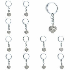 Family Gifts Love Heart Best Friend Words Pendant Key Chains Keychain Keyrings