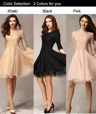 NIKSIM FASHION Lace Slim Casual  Clubwear Cocktail Evening Party Dress Pearls