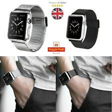 Milanese Stainless Steel Mesh Watch band Strap For Apple Watch iWatch 38/42mm UK