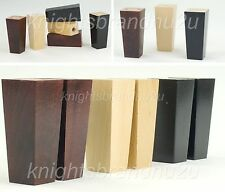 4x WOODEN FURNITURE LEGS REPLACEMENT FEET FOR SOFA, CHAIR, SETTEE SELF FIX