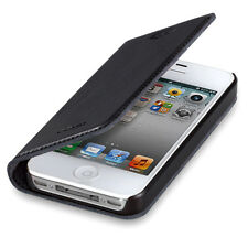 For Apple iPhone 4S 4 GGMM Luxury Genuine Real Leather Ultra Thin Case Cover