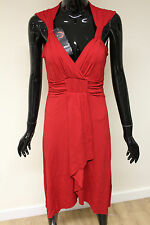 Morgan De Toi womens red empire line waist fitted beautiful v-neck dress GM266