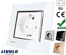 ENCHUFE ELECTRICO PARED CRISTAL EU LIVOLO Power Socket Wall Crystal 250V AC 16A
