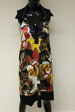 Morgan De Toi womens backless collared multi coloured reveri dress RRP £70