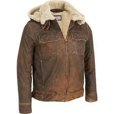 Wilsons Leather Mens Vintage Leather Bomber Jacket W/ Faux-Shearling