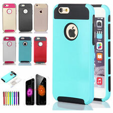 """Colorful Shockproof Hybrid Rubber Hard Cover Case For iPhone 6 4.7"""" / Plus 5.5"""""""